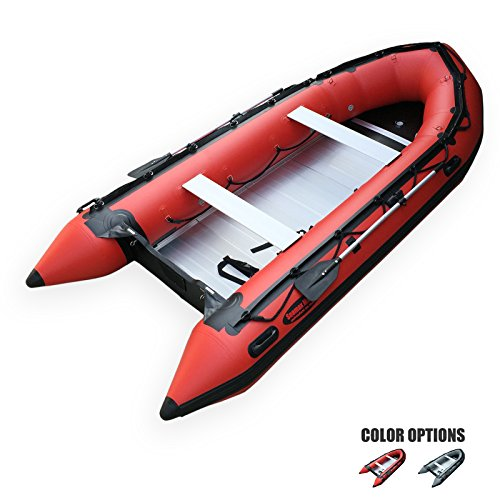 Seamax Ocean430 14 Feet Heavy Duty Inflatable Boat, Max 9 Passengers and 35HP Rated-(RED)