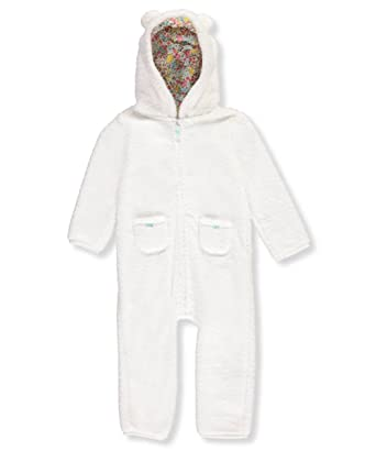 31673e2d1 Amazon.com  Carter s Baby Girls  Hooded Sherpa Jumpsuit  Clothing