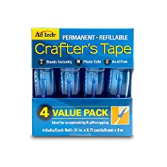 Glue runner permanent 4Pk .31X8. 75yd each 35yds total. This product is manufactured in Taiwan. Product belongs to arts, crafts and sewing.