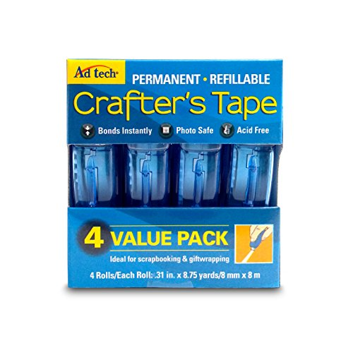 Removable Pen Cap - Ad-Tech Permanent Crafter's Tape, 0.31 by 315-Inch, 4 Per Package