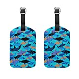 LEISISI Travel Luggage Tags Suitcase Luggage Bag Tags, Travel ID Bag Tag Airlines Baggage Labels 2pcs