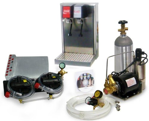 - 2-Flavor Soda Fountain Tower System with Cold Plate Cooling