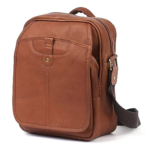 Claire Chase Classic Man Bag, Saddle, One Size - Claire Chase Leather Messenger