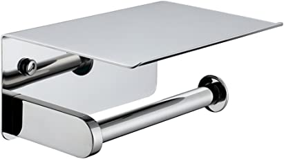 office paper holders. APL Toilet Paper Holder, SUS304 Stainless Steel Bathroom Tissue Holder With Mobile Phone Storage Office Holders
