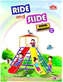 Gikso Ride and Slide General Awareness – C with Sticker Activity GK Book for UKG Kids Age 4-6 Years