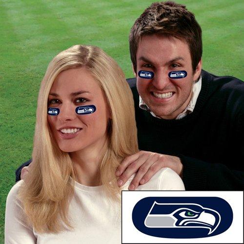 Party Animal Seattle Seahawks Team Eye Black Strips (3 Pair)