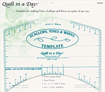 Quilt In A Day Scallops, Vines & Waves Template by Notions - In Network