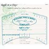 Quilt In A Day Scallops, Vines  and  Waves Template-9-InchX7-Inch