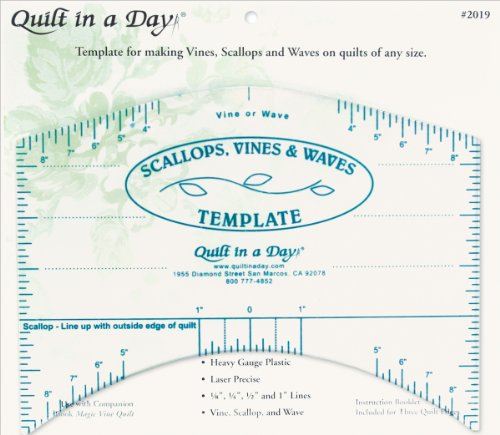 (Quilt in a Day 2019 Scallops, Vines and Waves Template 9