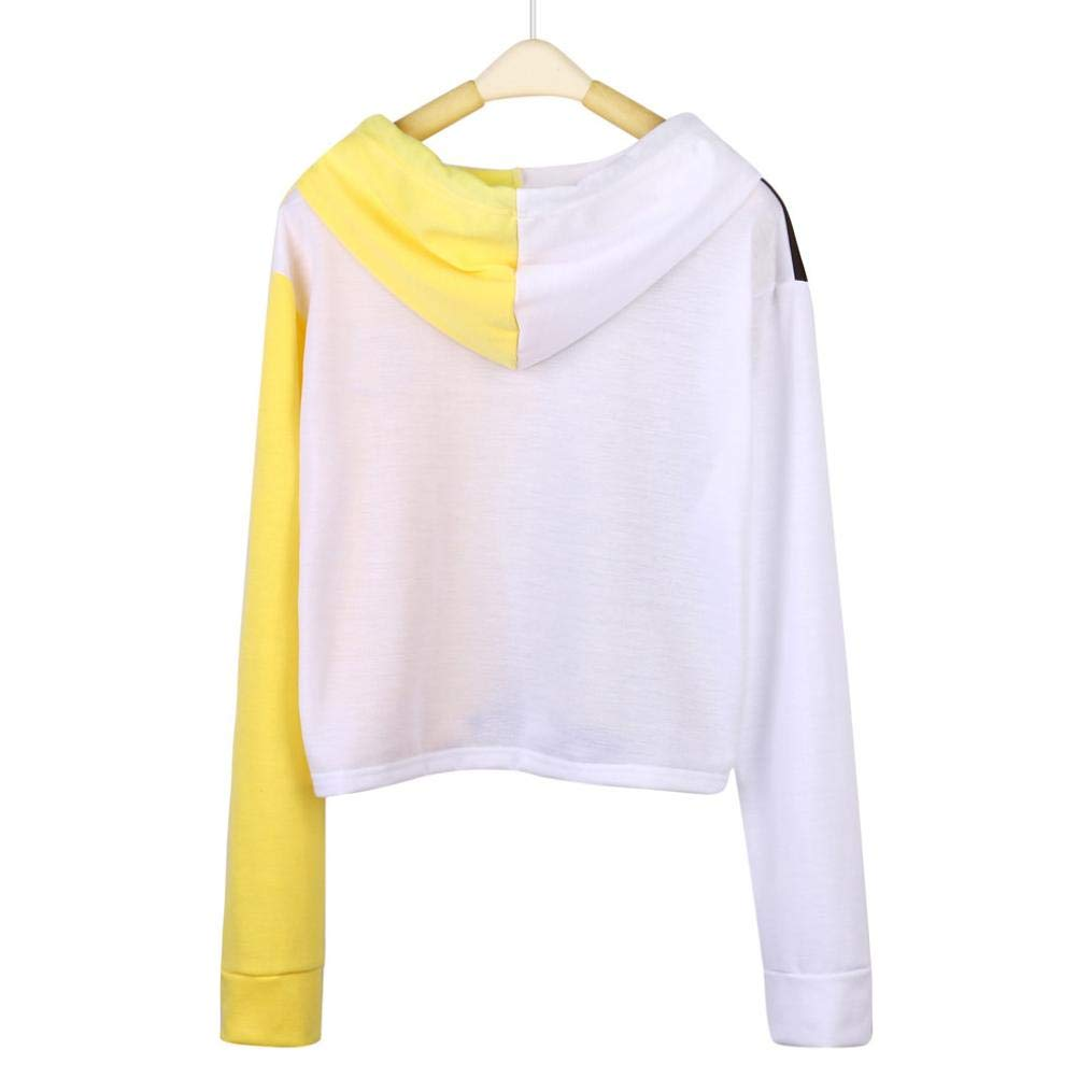 719dd0870a580e 2018 New Ladies Face Hooded Long Sleeve Crop Sweatshirt Patchwork Jumper  Coat Zulmaliu DSG-9 Teen Girls Hoodies