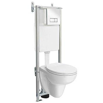 Wc Marco Para Inodoro 11 M Diseño De Cisterna Oculta