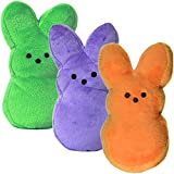 "Set of 3 Plush 9"" Peeps Bunnies Cute Bunny Rabbits Soft Stuffed Animals Toys Easter Basket Filler Stuffer"