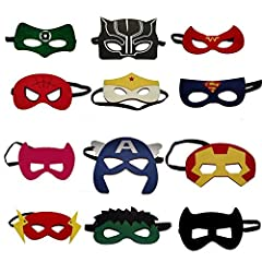 Calling All Superheroes! Kick-off your child's super heroes party with these fun child-size felt masks. These excellent superhero masks make the perfect party bag gift for superhero fans. Made from felt with stitching and an elastic headband ...