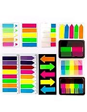 AIEX 1020 stuks zelfklevende markers transparant, kleurrijke tekststrips, kleine zelfklevende notities, schrijfbare zelfklevende markers, ideaal voor notitieboeken, bladwijzers, bestandsmappen en meer