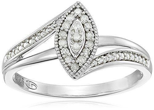 Diamond Friendship Marquise Promise Ring, Size 7