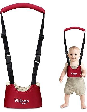 Vicloon Andador Arnés Tirantes Con Correa de Bebé Walking Rings Para Aprender A Andar Doble Función