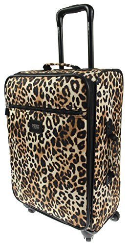 Victoria's Secret PINK Travel Carry-On VACAY READY Wheelie Suitcase - Leopard by Victoria's Secret
