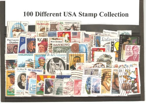 (USA Collectible Postage Stamps: 100 Different Used USA Stamp Collection)