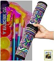 Abaría - Bolso estuche enrollable para pinceles para pintar al Óleo / Acrílica / Acuarela, portalápices de lona 20 agujeros, bolsa organizador para brochas de arte profesionales infantil adulto: Amazon.es: Hogar
