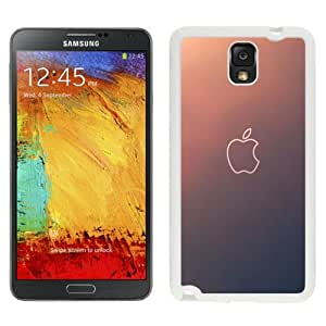 NEW Unique Custom Designed Samsung Galaxy Note 3 N900A N900V N900P N900T Phone Case With Simple Gradient Apple Logo Outline_White Phone Case