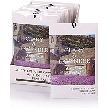 Rose Cottage 12Packs Lavender Scented Sachets Bags Closet Freshener for Drawer and Closet 16 Scents Optional Xmas Gift Set A-01