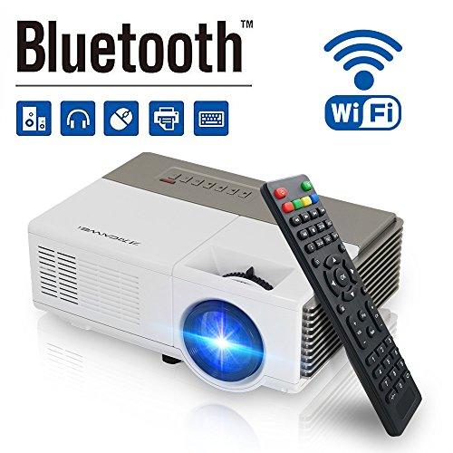 Pocket Bluetooth Wifi Wireless Mini Projector 1500lumen, HDM