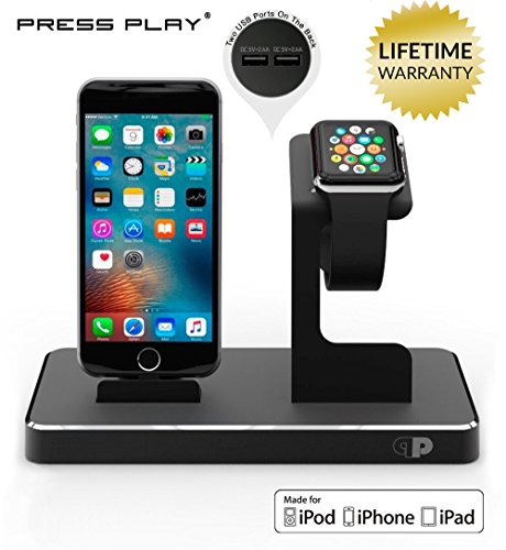 ONE Dock APPLE CERTIFIED Power Station Dock, Stand & Charger for Apple Watch Smart Watch, iPhone, iPad and iPod (Ipod Tv Cord compare prices)