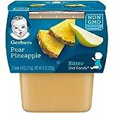 Gerber 2nd Foods Pear Pineapple, 4 oz Tubs, 2 Count