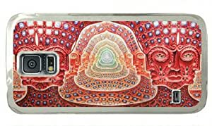 Abstract Music Tool Grey Psychedelic Music Bands Alex Grey Samsung Galaxy S5 Hard Shell with Transparent Edges Cover Case by Lilyshouse