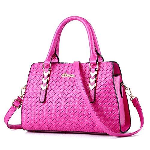 Vincico® Womens Fashion Pure Color Pu leather Shoulder Bag Crossbody Top-handle Tote Handbags