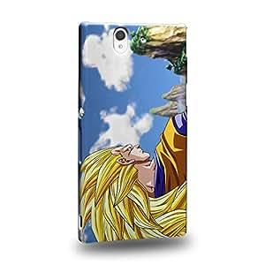 Case88 Premium Designs Dragon Ball Z GT AF Son Gohan Super Saiyan 3 Son Goku Carcasa/Funda dura para el Sony Xperia Z