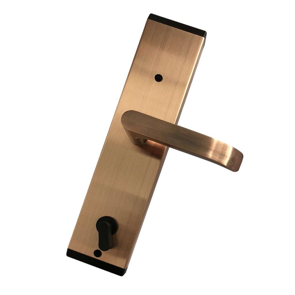 SunniMix 高品質 キーレスアラーム内蔵 スマート 電子 キーレス デジタル ドアロック 指紋認証 RFIDカード 盗難防止 全4色選べる レッド銅 B07C1RW545 レッド銅 レッド銅