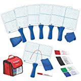 EAI Education Double-Sided Centimeter Grid Dry-Erase Paddles Kit
