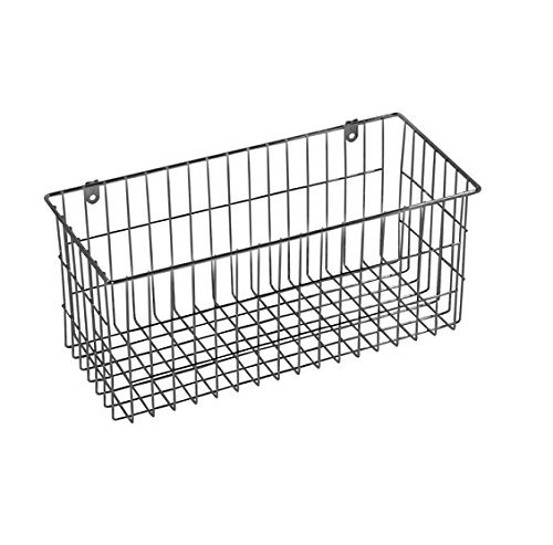 """multi-purpose Chrome-plated steel Large Wire Basket 13.50""""x6"""" metal wall-mounted"""