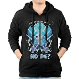 LetBiBi Hoodie Sweatshirt Men's Undertale Sans Long Sleeve Zip-up Hooded Sweatshirt Jacket