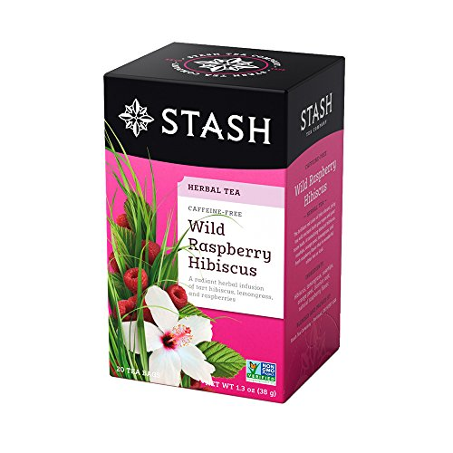 Stash Tea Wild Raspberry Hibiscus Herbal Tea, 20 Count ()