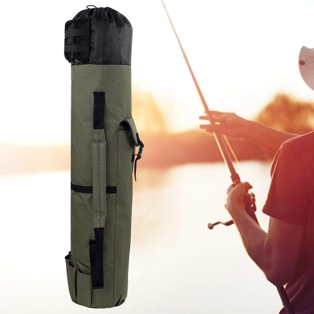 48,4 * 13,4 Zoll Fsskgx Schwarz//Gr/ün Outdoor Angelrute Pole Reel Lockt Box Tackle Aufbewahrungstasche Verstellbarer Schultergurt
