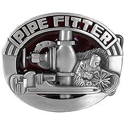 Pipe Fitter Enameled Belt Buckle