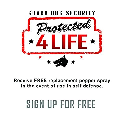 Guard Dog Security Pepper Spray Keychain, Red Hot Self Defense Spray with UV Dye - Choose a Leather Holster Color