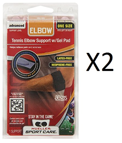 Mueller Tennis Elbow W/Gel Pad, One Size Fits Most, 1-Count