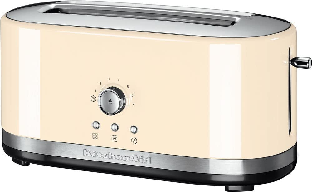 KitchenAid 5KMT4116 2rebanada(s) 1800W Crema de color - Tostador (2 rebanada(s), Crema de color, Metal, 1800 W, 420 mm, 196 mm): Amazon.es: Hogar