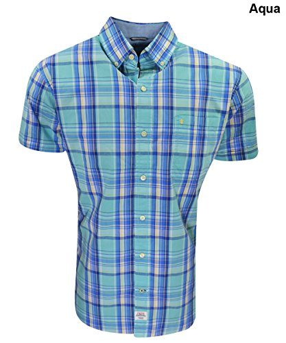IZOD Mens Saltwater Poplin Short Sleeve Shirt
