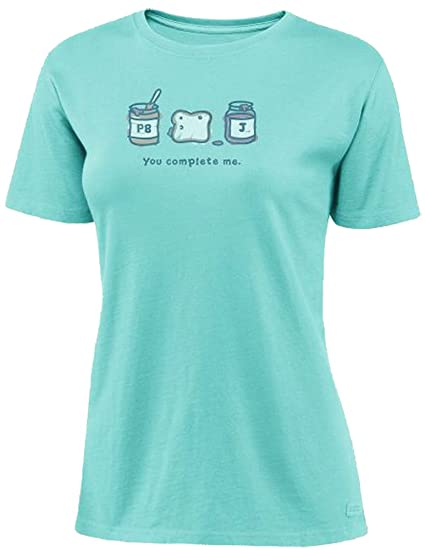 4520db385a Life is good Crusher You Complete Me T-Shirt, Tide Blue, XX-