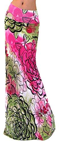 U-shot Vestidos Para Mujer Impresión Casual Elástico Playa Cintura alta Falda Larga Bodycon Jersey Vestido Estilo 5