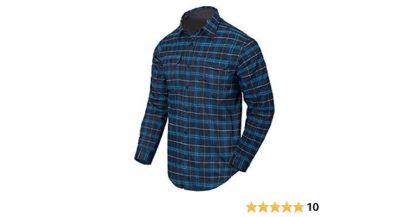 Helikon-Tex Hombre GreyMan Camisa Blue Stonework Plaid ...