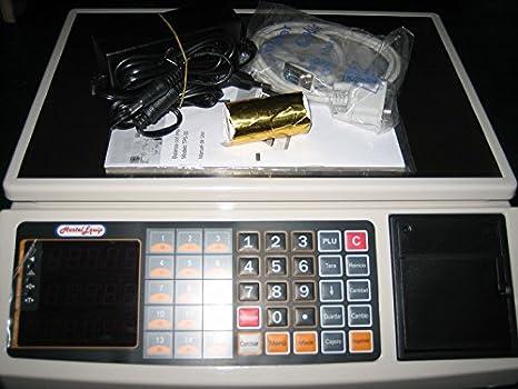 balanza bascula registradora con impresora de ticket y 1.000 plus: Amazon.es: Bricolaje y herramientas