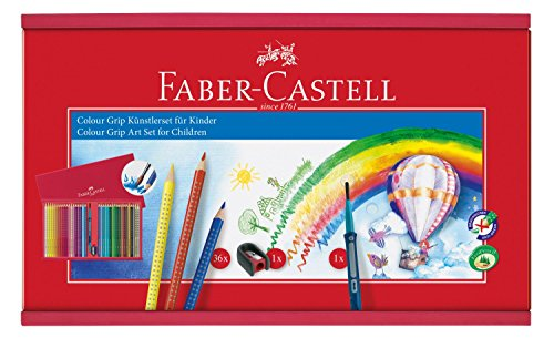 Faber-Castell Colour GRIP Multi 36pieza(s) - Lápiz de color (36 pieza(s), Multi, Multicolor, Triangular, Estuche de madera)