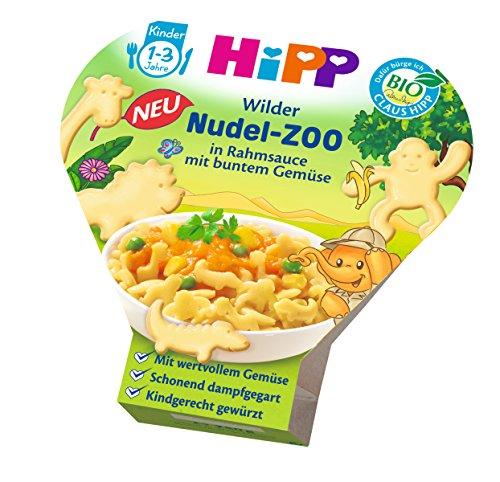 HiPP Wilder Nudel-Zoo in Rahmsauce mit buntem Gemüse, 6er Pack (6 x 250 g) 8645 Baby Kind Menü