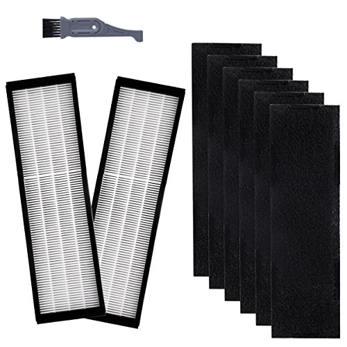 I clean Filter C Replacement GermGuardian FLT5250PT, Hepa Filter for FLT5000/FLT5111Series Air Purifiers AC5000, AC5000E, AC5350B, AC5300B Series(2 Pcs Hepa Filter C&6 Pcs Carbon Pre Filters)