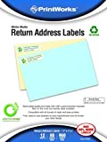 Printworks Elementree White Matte Return Address Labels for Inkjet or Laser Printers or Copiers, 100% Recycled, 12 Sheets/Pack,.5 inch x 1.75 inch, 00488, Office Central